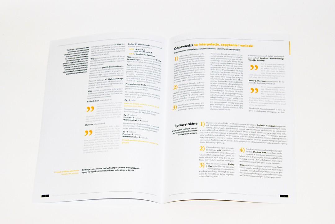 Typography magazine design