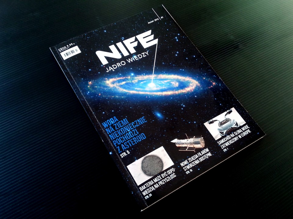 NiFe science magazine design