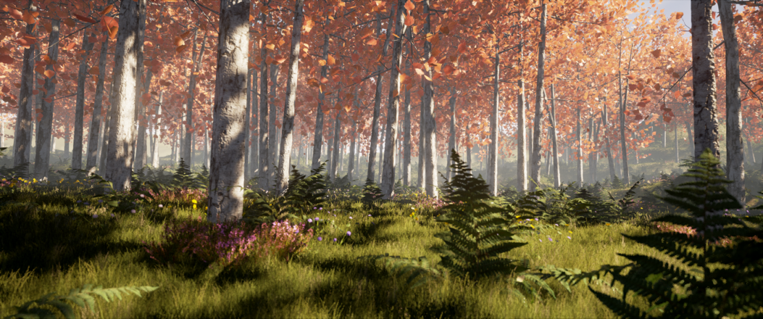 UE4 forest