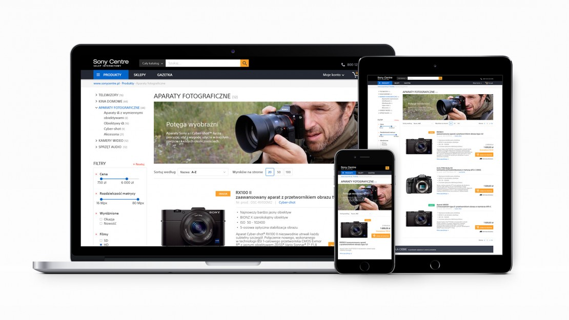 Sony-webdesign